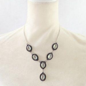 Jewelry - New Rainbow Fire Topaz & .925 Silver Necklace
